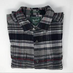 Woolrich Oxbow Bend Long Flannel Shirt Size L